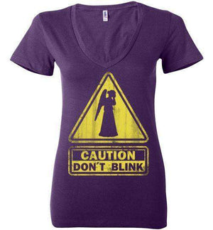 Don't Blink-Pop Culture Women's V-Necks-Ddjvigo|Threadiverse