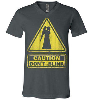 Don't Blink-Pop Culture V-Necks-Ddjvigo|Threadiverse