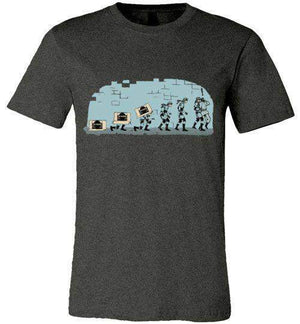 Evolutions Of Espionage-Gaming Shirts-Creative Outpouring|Threadiverse