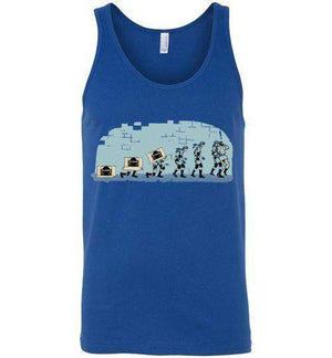 Evolutions Of Espionage-Gaming Tank Tops-Creative Outpouring|Threadiverse