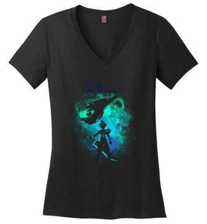 Ex Soldier-Gaming Women's Perfect Weight V-Necks-Donnie Illustrateur|Threadiverse