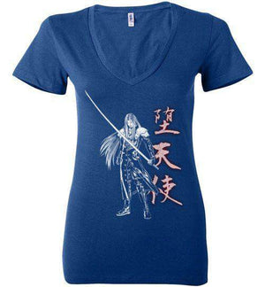 Fallen Angel-Gaming Women's V-Necks-Ddjvigo|Threadiverse