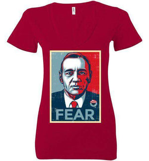 FEAR-Pop Culture Women's V-Necks-CoD (Create Or Destroy) Designs|Threadiverse