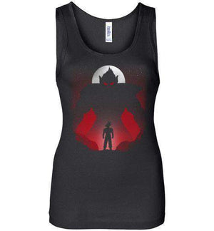 Fighting Oozaru-Anime Women's Tank Tops-Ddjvigo|Threadiverse
