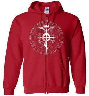 FMA-Anime Zipper Hoodies-Wimido|Threadiverse