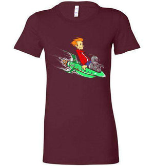 Fry And Bender-Animation Women's Shirts-Punksthetic Designs|Threadiverse