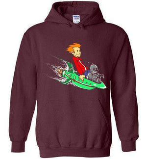 Fry And Bender-Animation Hoodies-Punksthetic Designs|Threadiverse
