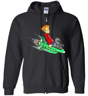 Fry And Bender-Animation Zipper Hoodies-Punksthetic Designs|Threadiverse