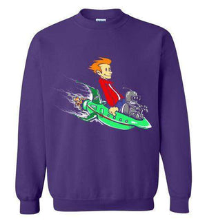 Fry And Bender-Animation Sweatshirts-Punksthetic Designs|Threadiverse