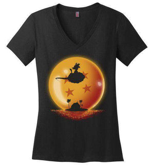 Hero On Sunset-Anime Women's Perfect Weight V-Necks-Ddjvigo|Threadiverse