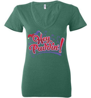 Heya Puddin-Comics Women's V-Necks-TrulyEpic|Threadiverse
