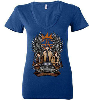 Hunters-Comics Women's V-Necks-Ddjvigo|Threadiverse