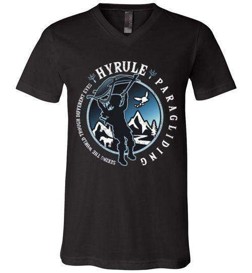 Hyrule Paragliding-Gaming V-Necks-Kempo24|Threadiverse