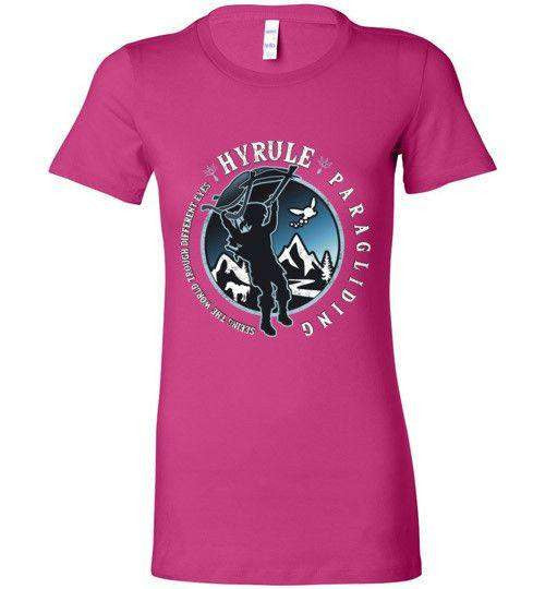Hyrule Paragliding-Gaming Women's Shirts-Kempo24|Threadiverse
