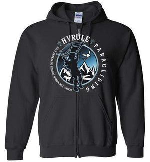 Hyrule Paragliding-Gaming Hoodies-Kempo24|Threadiverse