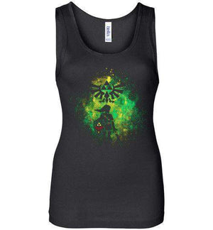 Hyrule's Hero-Gaming Women's Tank Tops-Donnie Illustrateur|Threadiverse