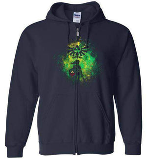 Hyrule's Hero-Gaming Zipper Hoodies-Donnie Illustrateur|Threadiverse