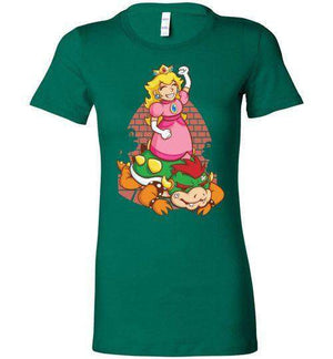 I Can Save Myself (Peach)-Gaming Women's Shirts-TrulyEpic|Threadiverse