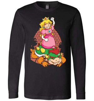 I Can Save Myself (Peach)-Gaming Long Sleeves-TrulyEpic|Threadiverse