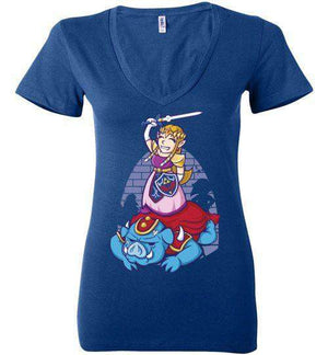 I Can Save Myself (Zelda)-Gaming Women's V-Necks-TrulyEpic|Threadiverse