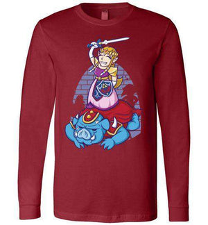 I Can Save Myself (Zelda)-Gaming Long Sleeves-TrulyEpic|Threadiverse