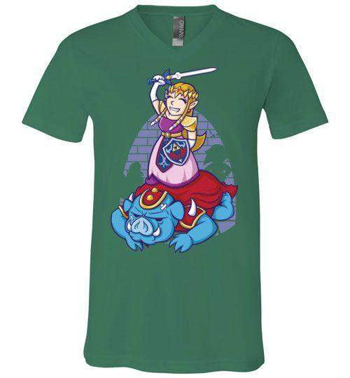 I Can Save Myself (Zelda)-Gaming V-Necks-TrulyEpic|Threadiverse