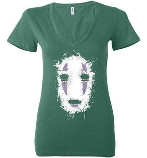 Ink No Face-Anime Women's V-Necks-Ddjvigo|Threadiverse