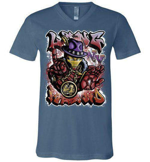 Ironman Long Island-Comics Women's V-Necks-Punksthetic Designs|Threadiverse