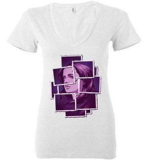 Jessica Jones-Comics Women's V-Necks-Fishmas|Threadiverse