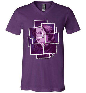 Jessica Jones-Comics V-Necks-Fishmas|Threadiverse