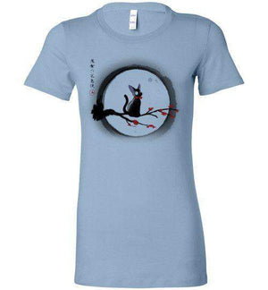 Jiji Under The Moon-Anime Women's Shirts-Ddjvigo|Threadiverse