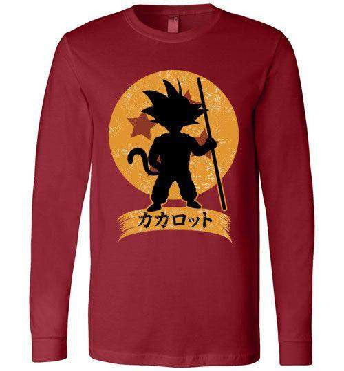 Kakarrot Crest-Anime Long Sleeves-Kempo24|Threadiverse