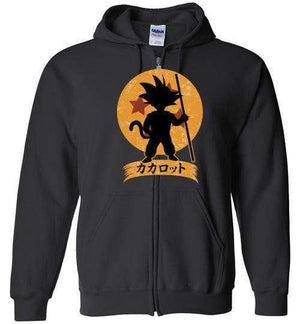 Kakarrot Crest-Anime Hoodies-Kempo24|Threadiverse