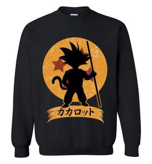 Kakarrot Crest-Anime Sweatshirts-Kempo24|Threadiverse