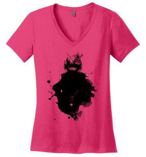 Kaneki-Anime Women's Perfect Weight V-Necks-Wimido|Threadiverse