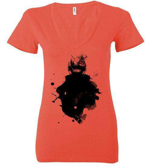 Kaneki-Anime Women's V-Necks-Wimido|Threadiverse