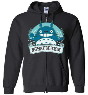 Keeper Of The Forest-Anime Zipper Hoodies-Donnie Illustrateur|Threadiverse