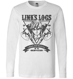 Link's Log Removal-Gaming Long Sleeves-Punksthetic Designs|Threadiverse