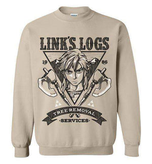 Link's Log Removal-Gaming Sweatshirts-Punksthetic Designs|Threadiverse