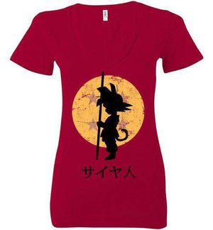 Looking For The Dragon Balls-Anime Women's V-Necks-Ddjvigo|Threadiverse