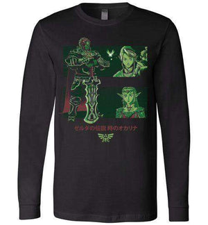 Looking For The Triforce-Gaming Long Sleeves-Ddjvigo|Threadiverse