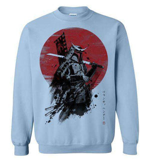 Mandalorian Samurai-Pop Culture Sweatshirts-Ddjvigo|Threadiverse