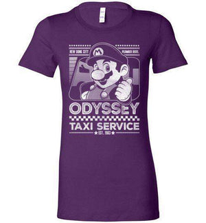 Mario Odyssey Taxi Service-Gaming Women's Shirts-Punksthetic Designs|Threadiverse