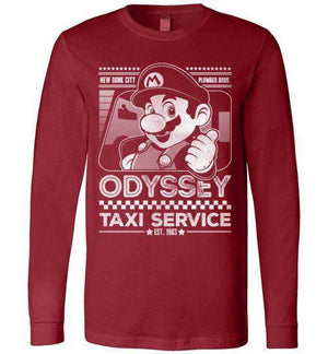 Mario Odyssey Taxi Service-Gaming Long Sleeves-Punksthetic Designs|Threadiverse