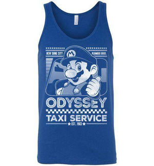 Mario Odyssey Taxi Service-Gaming Tank Tops-Punksthetic Designs|Threadiverse