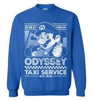 Mario Odyssey Taxi Service-Gaming Sweatshirts-Punksthetic Designs|Threadiverse
