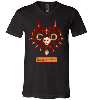 Met With A Terrible Fate?-Gaming V-Necks-DEMONIGOTE|Threadiverse