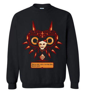 Met With A Terrible Fate?-Gaming Sweatshirts-DEMONIGOTE|Threadiverse