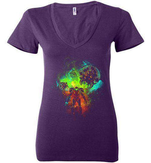 Metroid-Gaming Women's V-Necks-Donnie Illustrateur|Threadiverse