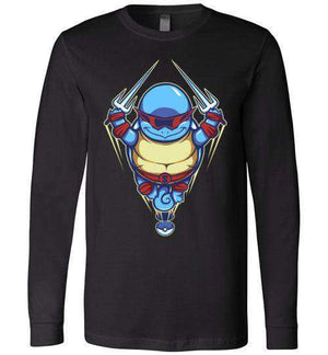 Ninja Squirtle-Gaming Long Sleeves-TrulyEpic|Threadiverse